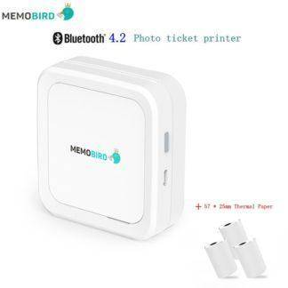 Mini Printer MEMOBIRD G3 New Bluetooth 4.2 Portable Phone Wireless Photo printer USB Micro Connector 3 Rolls Thermal Paper