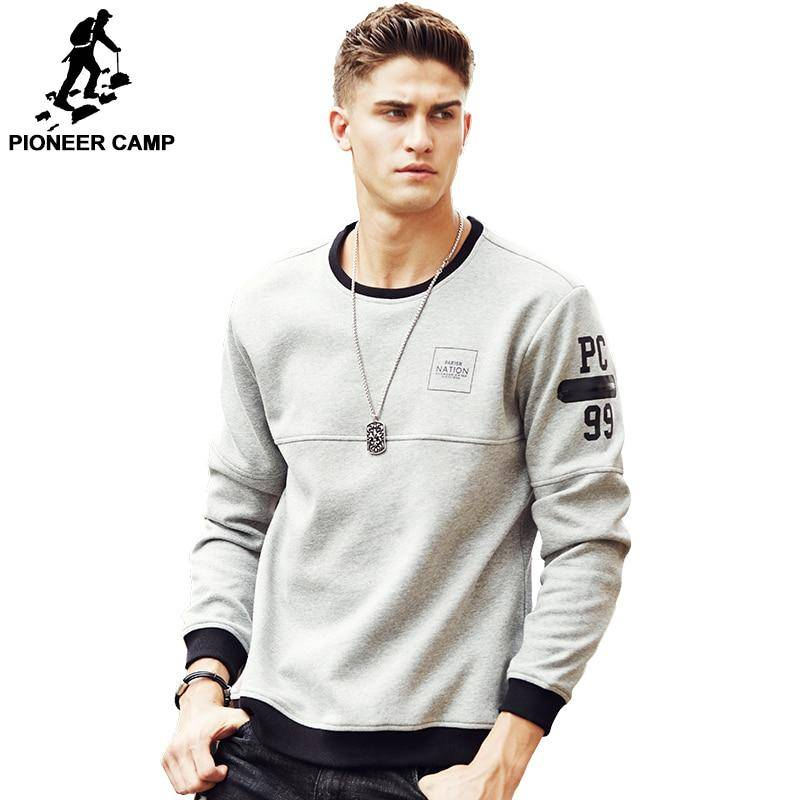 Pioneer Camp thick warm fleece hoodies men hot sale brand clothing autumn winter sweatshirts male quality