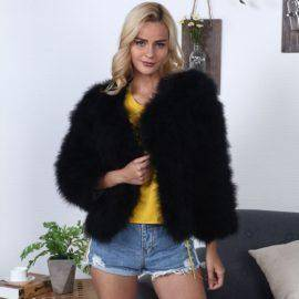 FLULU Winter Casual Faux Fur Coat Women Fashion Vintage Slim Long Sleeve Coat Solid Warm Female Fur Jacket casaco feminino