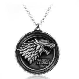 Anime Game of Thrones Pendant Necklace For Men Trinket Portachiavi Car Chain Necklaces Chaveiro Jewelry