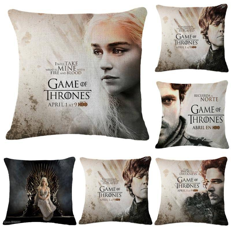 Game of Thrones Characters John Snow Throw Pillow Cover Decorative Massager Pillows Linen