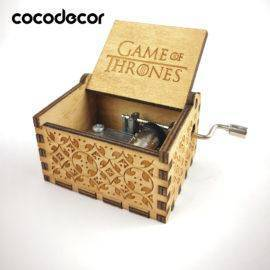 Game of thrones Music Box Antique Carved wooden hand crank Christmas gift birthday new year Party Supply