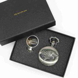 Retro Antique Pocket Watch Game of Thrones House Strak Men Women Fob Watch