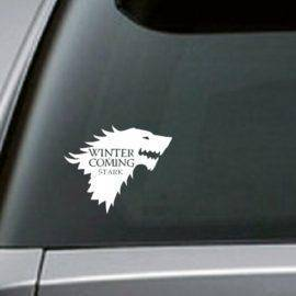 Stark Vinyl Car decal, Game of Thrones sticker