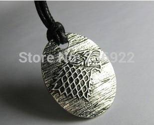 Fashion Jewelry Vintage Charm Game of Thrones Stark  Pendant Necklace Ice Wolf necklace
