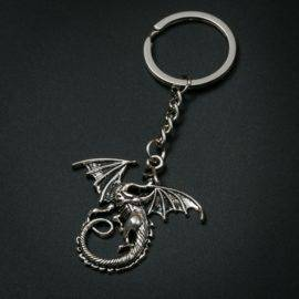 Game of Thrones Fashion Creative Dragon Keychain Metal Charm key ring For Gift Car Key Chain Jewelry