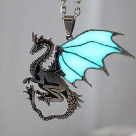 Necklace GLOW in the DARK Game of Thrones Dragon Pendants