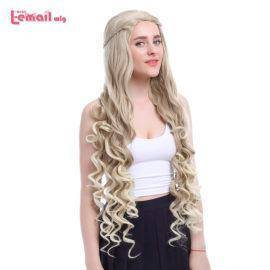 Game of Thrones Cosplay Wigs Flaxen Loose Wavy Heat Resistant Synthetic Hair