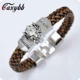 Game of Thrones A Song of Ice and Fire jewelry Leather Braided Wristband Gif