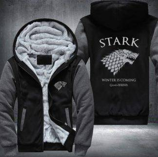 Game of Thrones Men's Women's Printing Pattern Thicken Fleece Zipper Hoodies Sweatshirts Coat Jacket