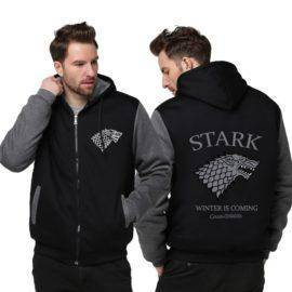 Practical Thicken Cold Proof Hoodie Zipper Coat Game of Thrones Direwolf Ghost House of Stark Jacket Sweatshirts MEN WOMEN Top