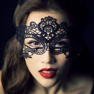 Sexy Black Lace Mask Halloween Eye Face Masks For Masquerade Party Mask Saw Hollow Nightclub Fashion Queen Female Masque