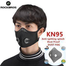 Coronavirus KN95 Face Mask Cycling Sport Bicycle MTB Bike Face Mask Activated Carbon With Filter Anti-Pollution