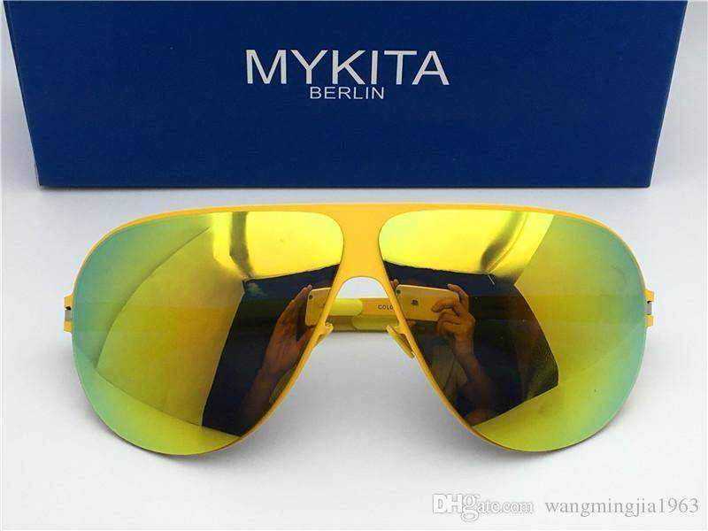 New Mykita HUBERT designer sunglasses for man ultralight Alloy Memory frame sunglasses for women cool outdoor design sun glasses