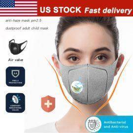 Corona Covid 19 Mouth Mask Dust Respirator Washable Reusable Masks Cotton Unisex