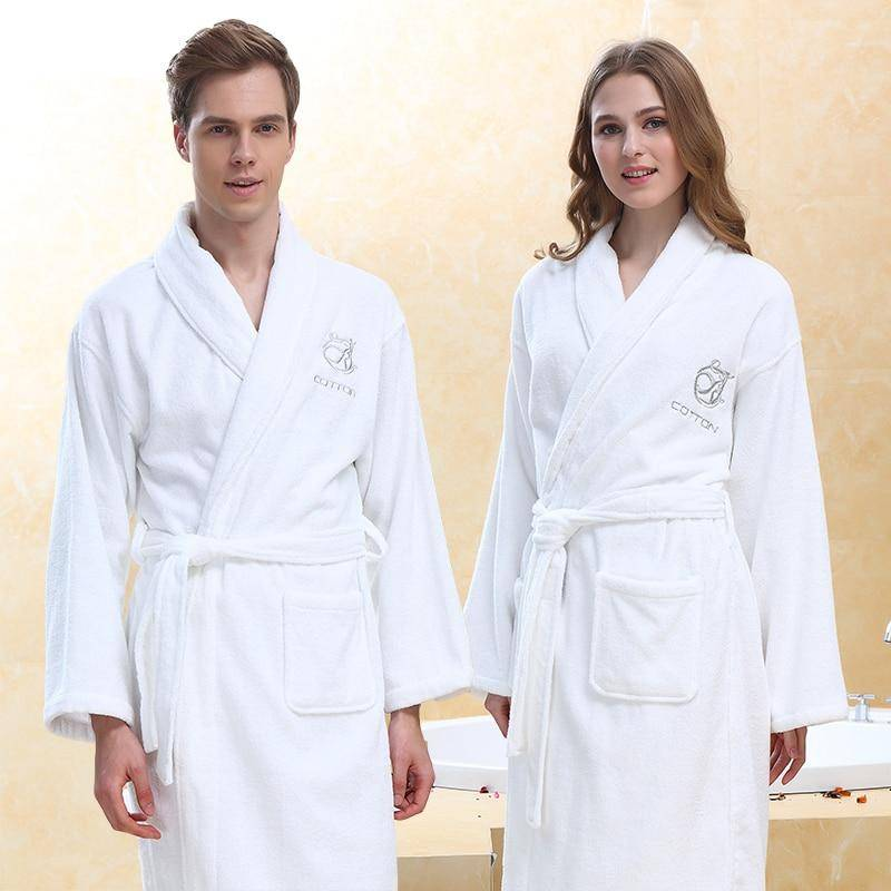 Bath Robe Winter Warm Towel Bathrobe Male Home Hotel Nightgown Kimono Dressing Gown Wedding Gift