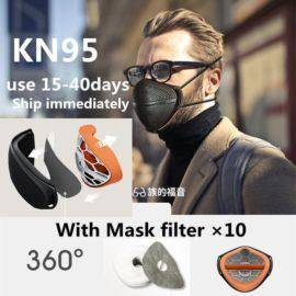 Covid 19 Mask Face Respirator Filtered Air PM2.5 Smog Windproof Recyclable Removable Breathable N95 Patented Protective Mask