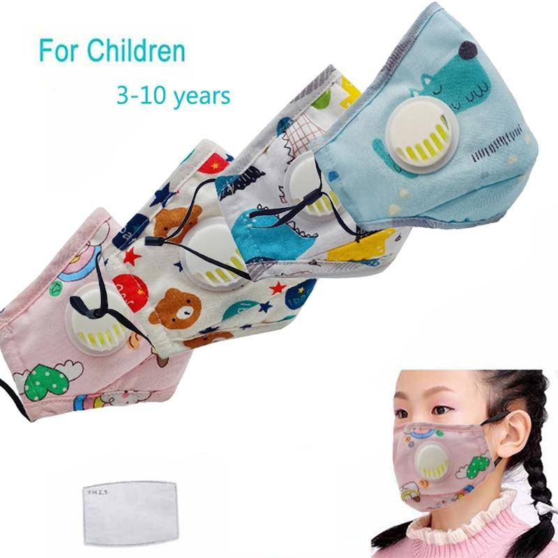 Covid 19 Child FFP2 Dust Mask Thicken Cotton Filter PM2.5 KN95 Reusable Face Respirator Kids Respiratory Valve Gas Protective Mask