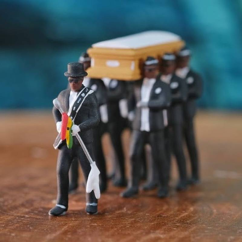 Blacks Carry The Coffin Team Figure 10cm Blacks Carry The Coffin PVC Action Figure Collection Toys