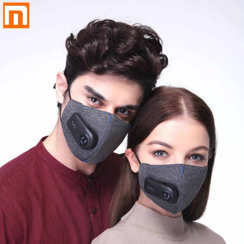 Covid 19 Xiaomi Purely Anti-Pollution Air Mask with PM2.5 550mAh Batteries Rechargeable Filter Three-dimensional Structure