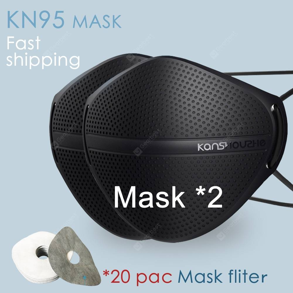 Covid 19 Face mask Fast Shipping Reusable Dust Masks with 10 KN95 Composite Filters PM2.5