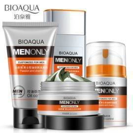 BIOAQUA Men Oil-control Skin Care cream set face care Deep Hydrating Moisturizing Whitening Anti Wrinkle Anti-Aging Cream 4PCS