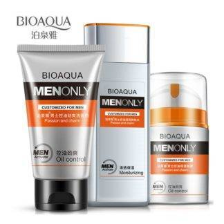BIOAQUA Men Skin Care cream set face care Deep Hydrating Moisturizing Oil-control Whitening Anti Wrinkle Anti-Aging Cream 3PCS