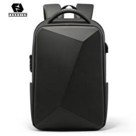 Fenruien Brand Laptop Backpack Anti-theft Waterproof School Backpacks USB Charging Men Business Travel Bag Backpack New Design
