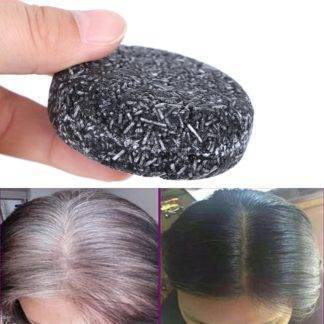 Gray White Hair Color Dye Treatment Bamboo Charcoal Clean Detox Soap Bar Black Hair Shampoo Shiny Hair & Scalp Treatment