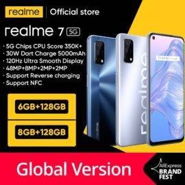 realme 7 5G Dimensity 800U 6GB 128GB 120Hz Display 48MP Camera 5000mAh Global Version 30W Dart Charger