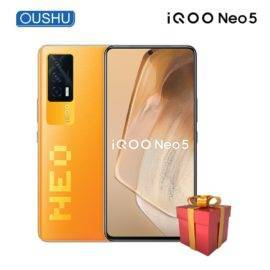 Original vivo IQOO Neo5 Mobilephone Qualcomm Snapdragon 870 CPU 120Hz Refresh Rate OLED Screen 4400mAh Battery 66W Charge phone